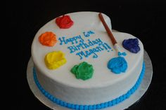 art pallet cakes | Artsy {Art Palette Cake}