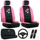 Pink Heart-n-Heel Car Seat Cover Set