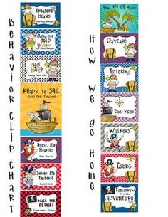 PIRATES - Classroom Decor - binder covers, banners, poster