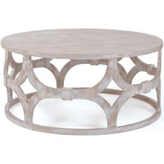 The Adastra Round Coffee Table is part of a line in Restoration Warehouse devoted to the importance of home, creature comforts, and things that make us feel safe that don't have to cost a fortune. It emphasizes the treasures that tie a house together and their direct link to your happiness. Restoration Warehouse is a selection of items that we find exciting and beautiful from around the world, and hope will inspire you and your clients.  Material: Washed Wood