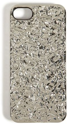 Foil Covered Iphone 5 Case In Silver