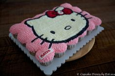 hello kitty cupcake cake ideas | cupcakes cake are cupcakes that are arranged so that the top can be ...