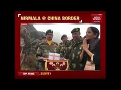 Defense Minister Nirmala Sitharaman Acknowledges Greetings From Chinese Soldiers India Today