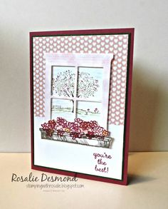 For a wonderful friend... #happyhome #hearthandheartthinlits #stampinup #rosaliedesmond  For more ideas click on the picture