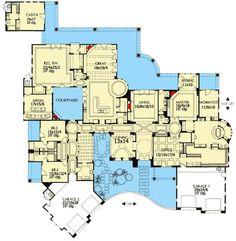 Double Courtyard Pleasure - 16326MD | Architectural Designs - House Plans