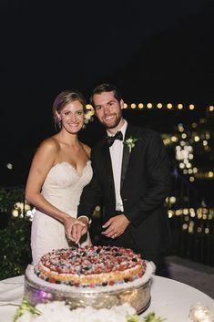The cake cutting. Everyone loved this Millefoglie with berries, which is a traditional Italian wedding cake. - Over The Moon Italian Wedding Cakes, Amalfi Coast Wedding, Traditional Cakes, Over The Moon, Berries, Groom, Bride, Wedding Bride, Bridal