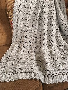 Thanks, Red Heart for sponsoring this new FREE crochet throw pattern. It's an Easy pattern made of Super Saver Dusty Grey. Redheart Free Crochet Patterns, Crochet Throw Pattern, Afghan Crochet Patterns, Crochet Squares, Baby Blanket Crochet, Crochet Baby, Crochet Throws, Crochet For Beginners Blanket, Crochet Afgans
