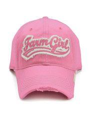 Pink Farm Girl Ball Cap