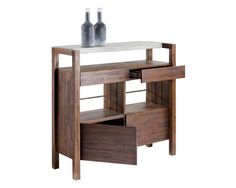 SEGOVIA BAR TABLE -  convertible piece.  Entirely finished and top extends back