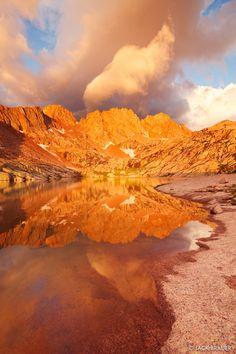 Sunlight Sunrise Reflection : Weminuche Wilderness, Colorado