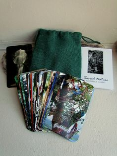 Sacred Nature Guidance Cards by The Green Man and the Goddess. 44 cards, booklet and pouch $30.00 US