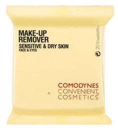 Comodynes Make Up Remover Towelandtes Sensitive And Dry Skin 20 Towelandtes by Comodynes. $8.65. For Sensitive and Dry Skin. 20 towlettes - 8x8 inches each. 100% natural viscose. Comodynes make-up remover towelandtes for face and eyes. With oats for dry and sensitive skin. They replace cleanser, toner and eye make-up remover leaving skin cleansed, toned and moisturised. Convenient to use and ideal for travel.