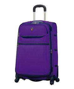 Take a look at this Purple 28'' Expandable Wheeled Upright by Travelers Club Luggage on #zulily today!