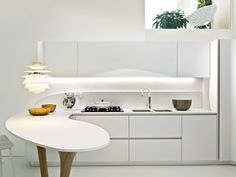 Fitted kitchen without handles OLA 20 Ola Line by Snaidero | design Pininfarina