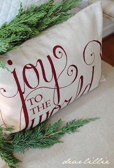 Christmas Pillow - Dear Lillie