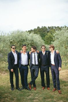 Groom and his groomsmen: http://www.stylemepretty.com/little-black-book-blog/2015/01/30/gastronomic-provencal-wedding-at-auberge-la-feniere/ | Photography: M&J - http://www.mandjphotos.com/