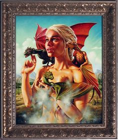 """Mother of Dragons"" by Jason Edmiston - Game of Thrones Mondo Art Show Art Game Of Thrones, Dessin Game Of Thrones, Game Of Thrones Dragons, Jason Edmiston, The Mother Of Dragons, Baby Dragon, Dragon Art, Cultura Pop, Black Power"