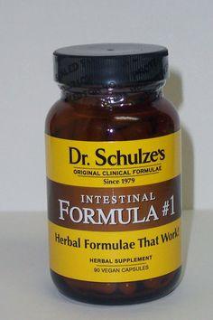 Dr Schulze Intestinal Formula #1 Organic Herbal  Colon Bowel Cleanse 90 caps
