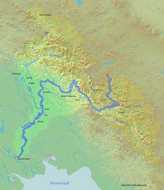 Karun river map
