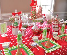 Cute Christmas Party with snowman milk - by Celebrations at Home