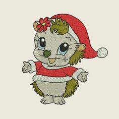 Christmas time hedgehog 03 | Spookies Treasures