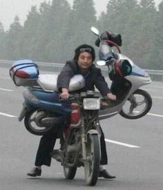 Ah, the ever famous spare motorcycle