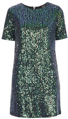 Topshop Womens **Sally Mae Sequin Dress by Motel - Green on shopstyle.co.uk