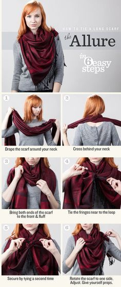 17 Stylish and Easy Ways To Tie A Scarf Ways To Wear A Scarf 23a5bc496c