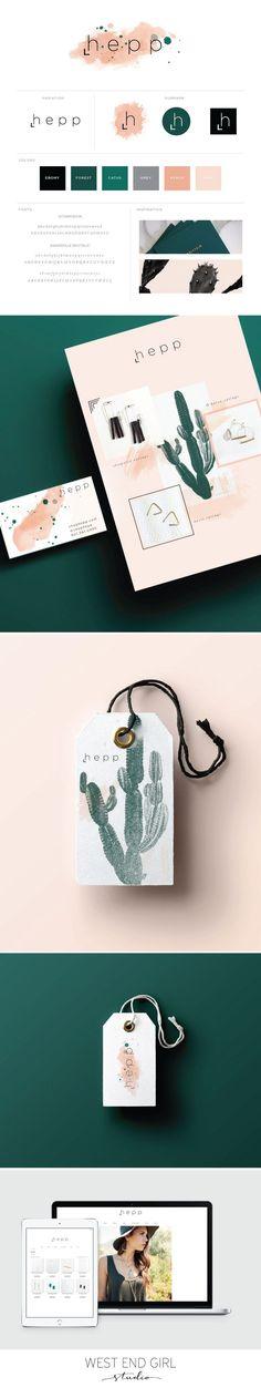 boho branding, cactu