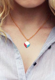 Bright Geometric Necklace   £12  #geometric #necklace