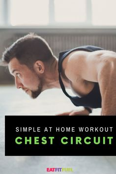 Fitness Focus: Chest & the Push-Up Circuit - Eat Fit Fuel Post Workout Stretches, Workout Circuit, Chest Exercises, Chest Workouts, Arm Workouts At Home, Easy Workouts, Workout Motivation, Weight Loss Motivation, Quick Full Body Workout