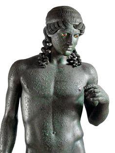 Statue of Apollo Citharoedus (detail), from the Casa del Citarista, Pompeii, late 1st century B.C. | Archaeological Museum, Naples
