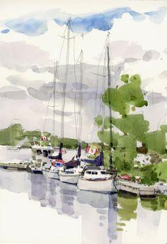 BoatsBytheLake- Shari Blaukopf