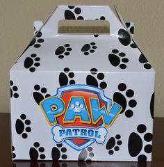 Paw Patrol large goodie bag box paw patrol party by HappyCraftyJoy Sky Paw Patrol, Paw Patrol Cake, Paw Patrol Party, Paw Patrol Birthday, Third Birthday Boys, 6th Birthday Parties, Boy Birthday, Birthday Ideas, Paw Patrol Decorations