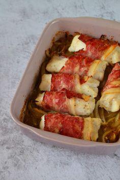Hawaiian Pizza, Bacon, Pork, Meat, Chicken, Oven Recipes, Quick Recipes, Tasty Food Recipes, Onions