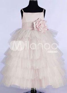 Teagan Flower Girl Dress http://www.milanoo.com/Pink-Spaghetti-Flower-Satin-Organza-Flower-Girl-Dress-p14872.html   44.99 Comes in lots of colors