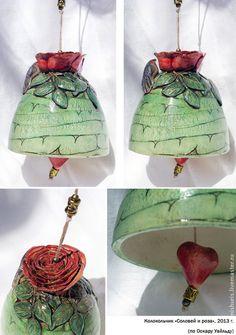 Купить Колокольчики Цветочные (варианты) - колокольчик, колокольчики, авторская керамика, керамический колокольчик, Керамические фигурки