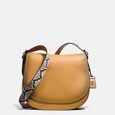 SADDLE BAG IN PYTHON COLORBLOCK LEATHER