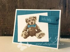 Baby Bear stamp set - Stampin' Up! - design by Margaret Johnson - Canadian Independent Stampin' Up! Demonstrator