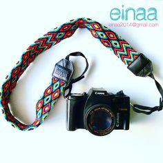 correas wayuu para cámaras hecho en colombia artesanal tejidos colombianos accesorios para cámaras fotográficas