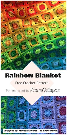 Magic Rainbow Blanket - Free Crochet Pattern ##babyblanketpattern #summerrainbow #crochetpattern #freepattern