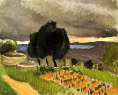 Henri Matisse - Fauvisme - Landscape of the Midi - Before the Storm - 1921 Henri Matisse, Matisse Art, Matisse Paintings, Picasso Paintings, Raoul Dufy, French Artists, Pablo Picasso, Van Gogh, Monet