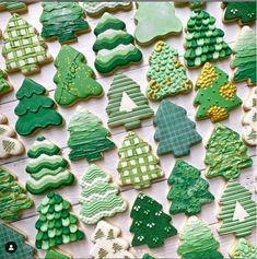 The Graceful Baker Christmas Cookies, Christmas Tree, Savoury Baking, One Color, Cookie Decorating, Texture, Ideas, Sweet, Desserts