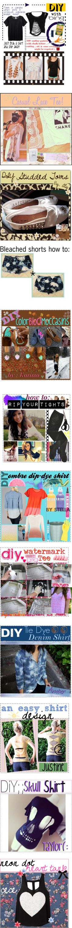 """Clothing DIYs by sage2chip"