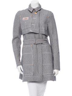 Altuzarra Pinstripe Belted Coat