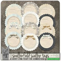 Swallowfield - Scallop Tags by Kenner Road - Two Peas in a Bucket