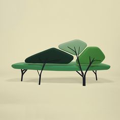 Borghese is a sofa inspired by the stone pines of the Villa Borghese in Roma.
