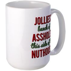 CafePress - Jolliest Bunch of Assholes Mugs - Coffee Mug, Large 15 oz. White Coffee Cup *** Huge discounts available  : Coffee Mugs