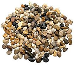 2 Pounds Small Decorative River Rock Stones – Natural Polished Mixed Color Stones Use In Glassware, Like Vases, Aquariums And Terrariums To Enhance The Appearance, By Katzco