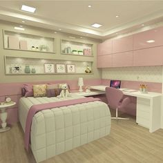 Bedroom Ideas for Girls. When brainstorming on youthful space ideas, the most important thing to remember is that their room is an expression Girl Bedroom Designs, Girls Bedroom, Bedroom Decor, Bedrooms, Bedroom Ideas, Dream Rooms, Dream Bedroom, Cute Room Decor, Cool Rooms